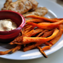 Sweet Potato Fries with Lime-Chipotle Mayo