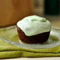 Vegan Chocolate Cupcakes with Mint Icing