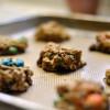 Honey Oatmeal M&M Cookies
