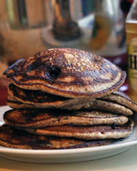 Blueberry-Flax Pancakes...and a Beer