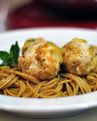 Asian Spicy Meatballs and Noodles