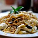 Lemon, Artichoke, and Olive Pasta