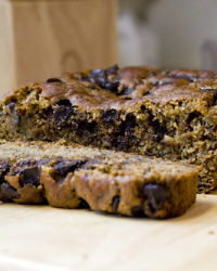 Vegan Banana Walnut Chocolate Chip Bread