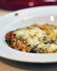 Pesto Spinach Polenta Lasagna
