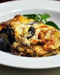 Hearty Fall Eggplant and Pepper Lasagna