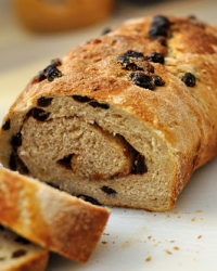 Cinnamon Raisin Swirl Bread and Winter Camping for One