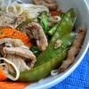 Spring Pork and Veggie Stir Fried Soba Noodles