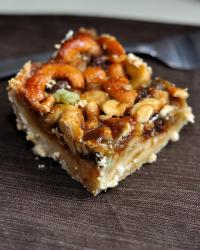 Caramel Cashew Shortbread Squares