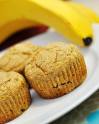 Spiced Maple Banana Muffins