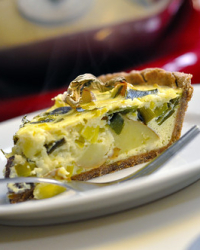 Spring Leek and Potato Tart...Quiche?