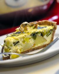 Spring Leek and Potato Tart...Quiche?