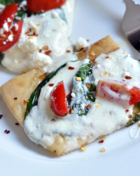 Pizza Caprese with Spinach?