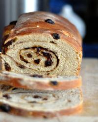 No-Knead Sourdough Cinnamon-Raisin Swirl Bread