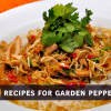 Easy recipes for garden peppers