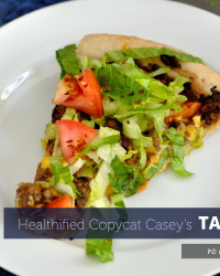 Healthier Casey's Taco Pizza at Home