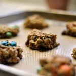 Honey Oatmeal M&M Cookies