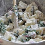 Healthy Potato Salad with Yogurt, Chard and Dill