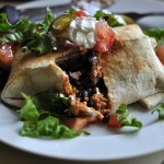 Veggie Bean and Corn Chimichangas