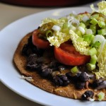 Hot weather + laziness = Veggie Mexican Pizzas