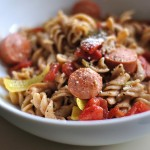 Spicy Pasta with Peppers and Sausage