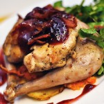 Pan-Roasted Pheasant with Carrot Purée and Watercress Salad