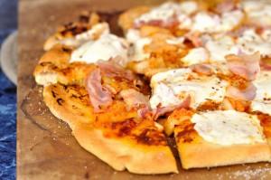Kimchi Prosciutto Pizza