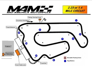 Track day at Mid America Motorplex – Pacific Junction, IA