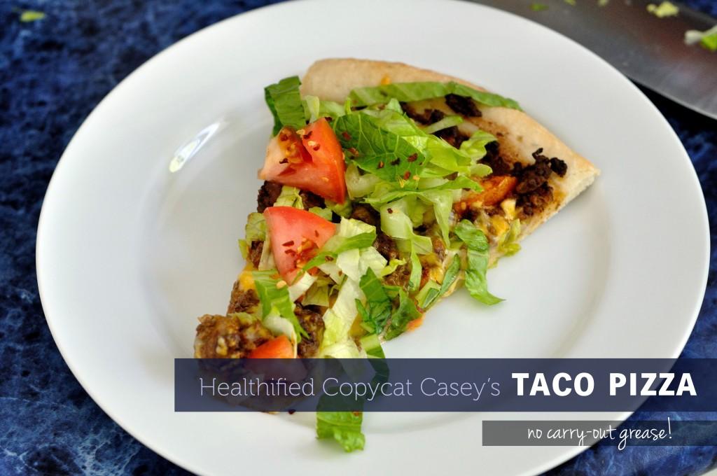 Healthified Copycat Casey's Taco Pizza - Kohler Created