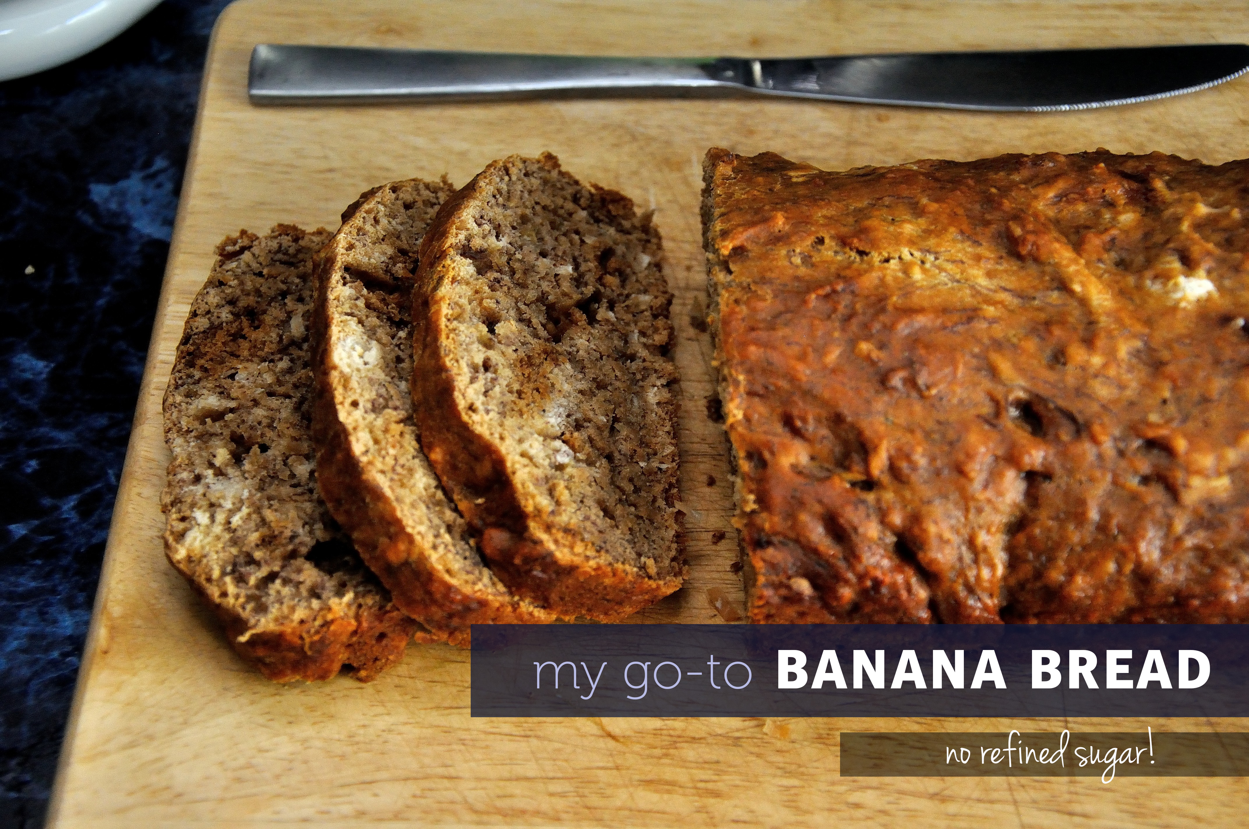 My Go-To Banana Bread Recipe - No Refined Sugar! | KohlerCreated.com