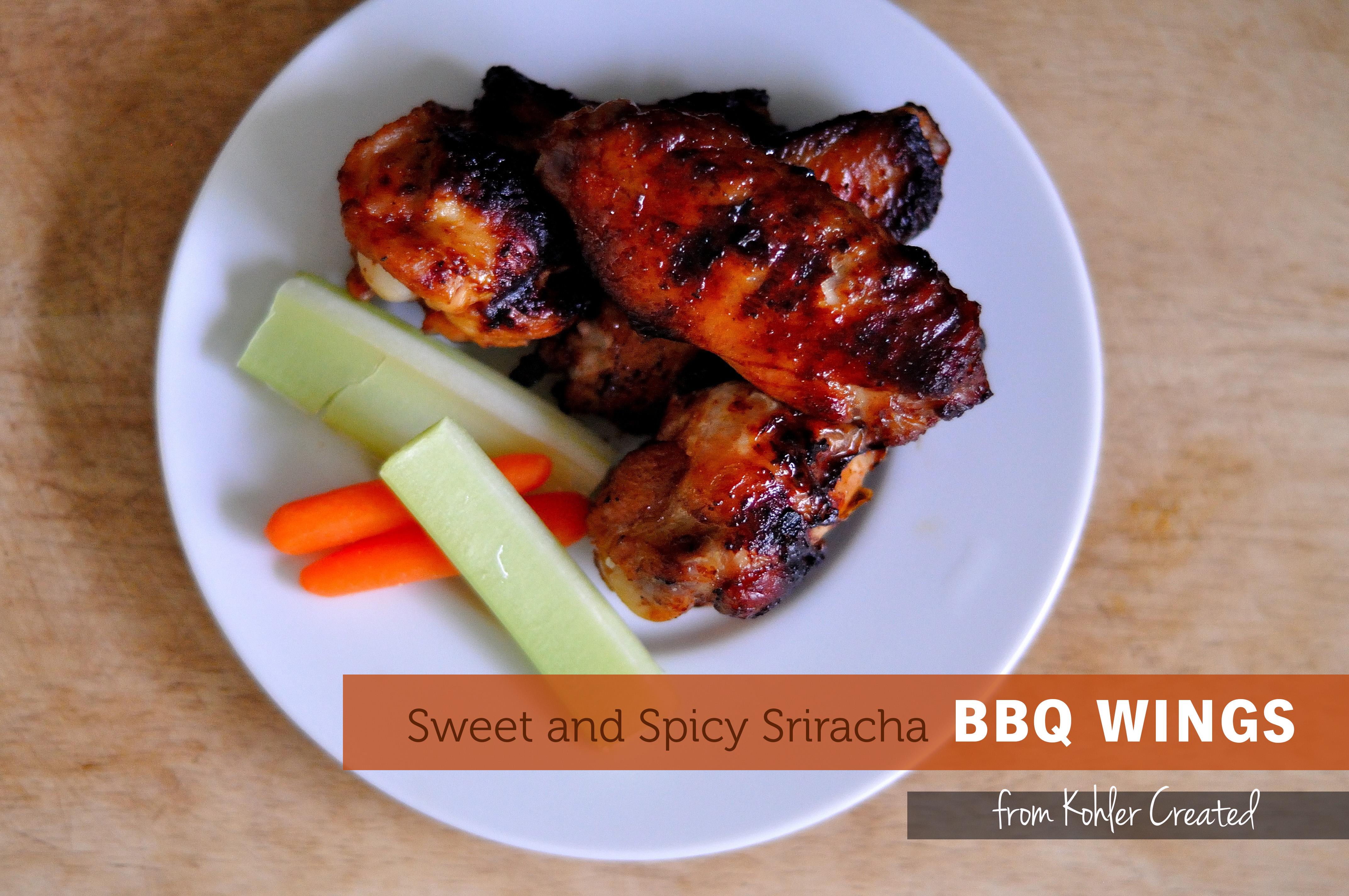 Sweet and Spicy Sriracha BBQ Wings - Kohler Created