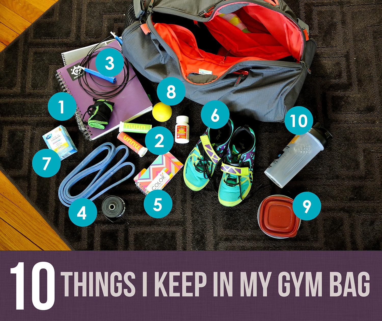 10 Things I Keep in My Gym Bag - Kohler Created