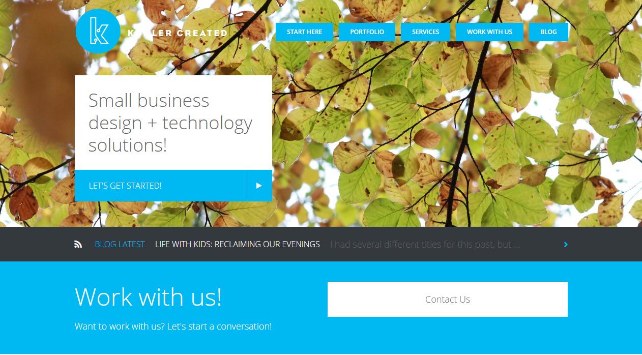 Website redesign - kohler created