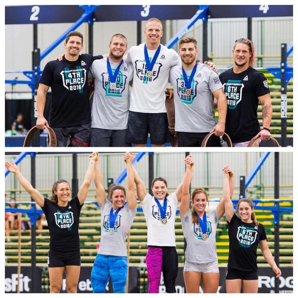 2016 CrossFit Games Central Regional Podium Finishers - Kohler Created