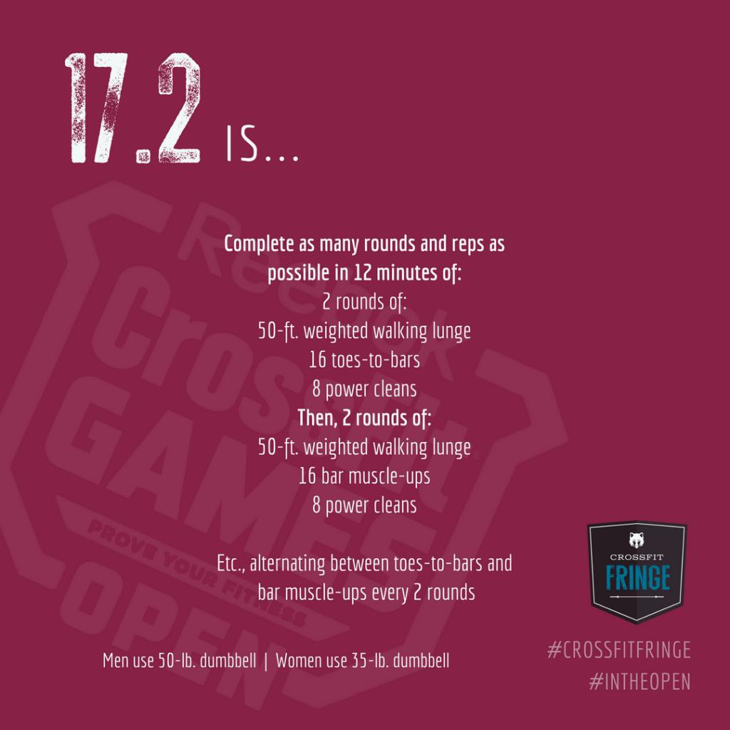 CrossFit Open Workout 17.2