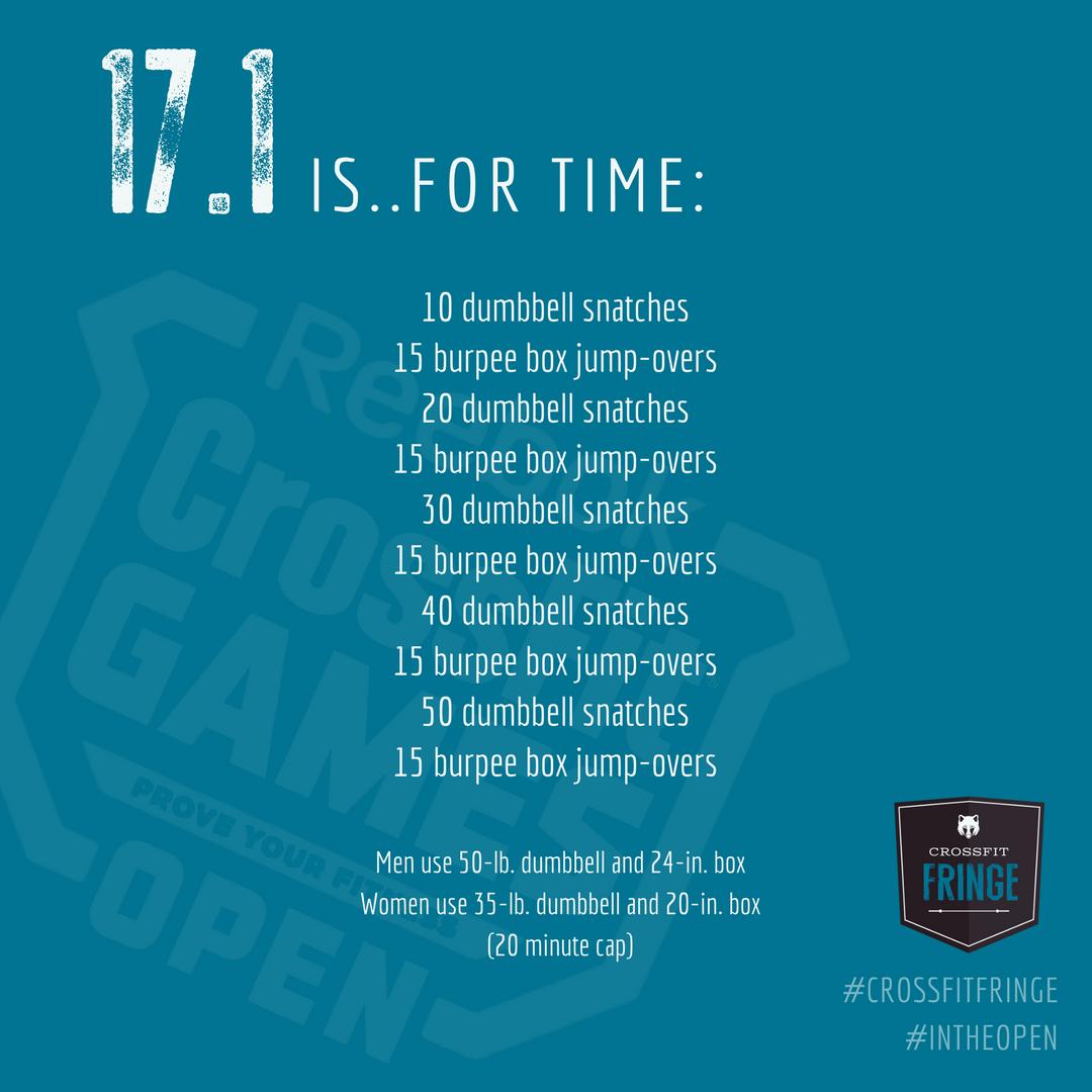 CrossFit Open WOD 17.1 - Kohler Created